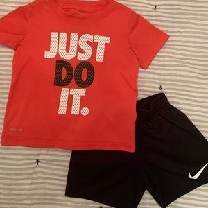 Boys Nike Dri-Fit Tee and Shorts Outfit